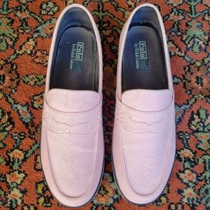Polo Ralph Lauren canvas penny loafer- Size 11.0